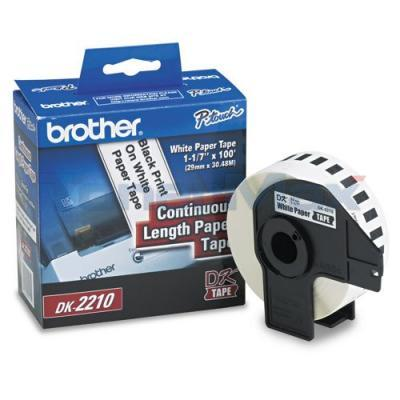 BROTHER P-TOUCH WHITE CONT. PAPER ROLL 1-1/7IN
